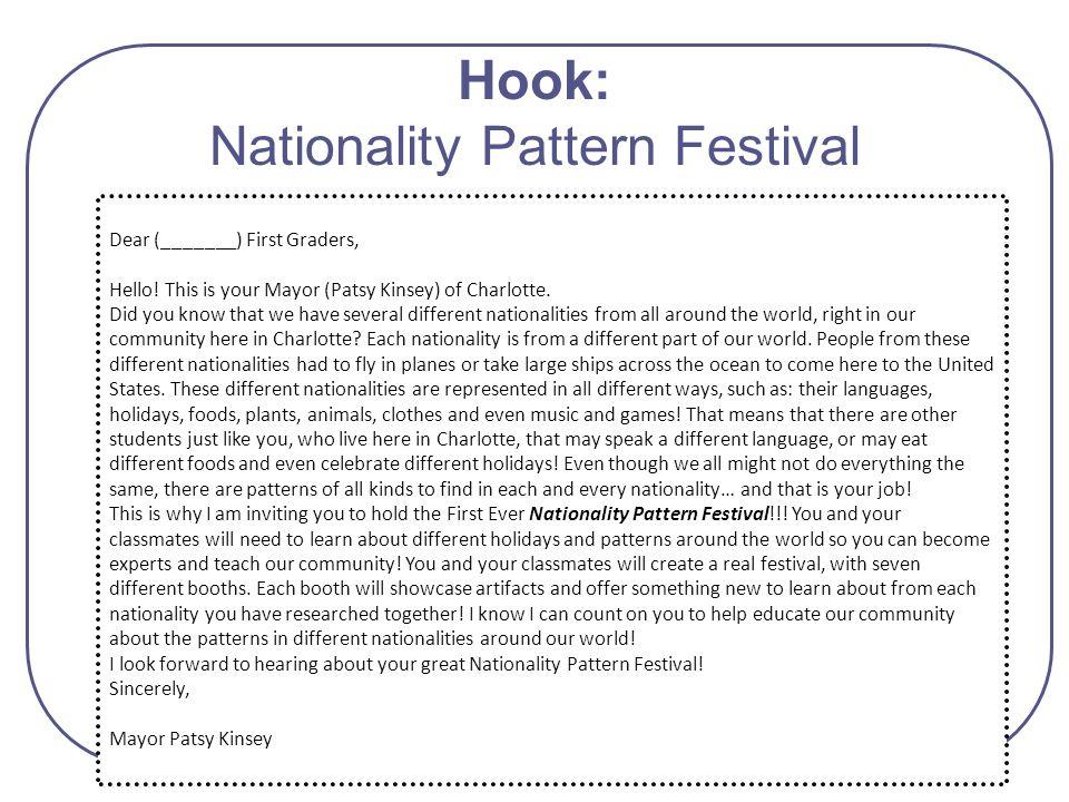Hook: Nationality Pattern Festival