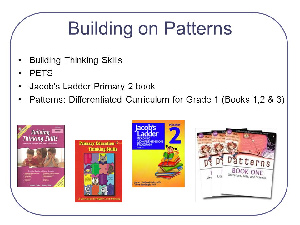 Building on Patterns Building Thinking Skills PETS