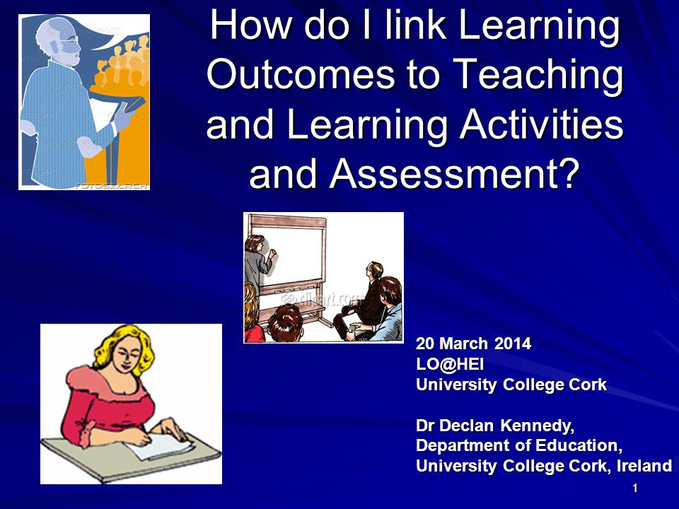 How do I link Learning Outcomes to Teaching and Learning Activities and Assessment