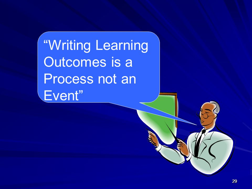 Writing Learning Outcomes is a Process not an Event