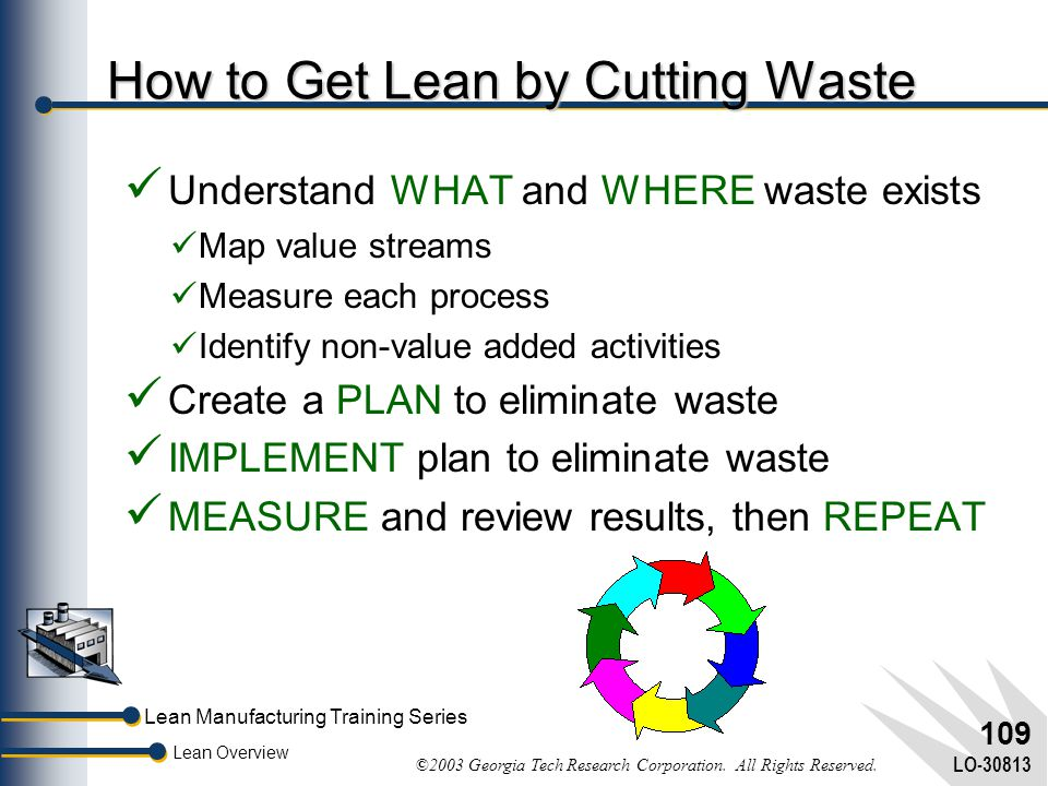 How to Get Lean by Cutting Waste