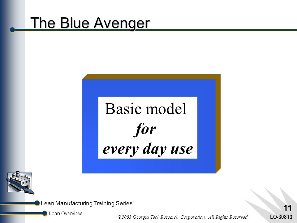 Basic model for every day use The Blue Avenger