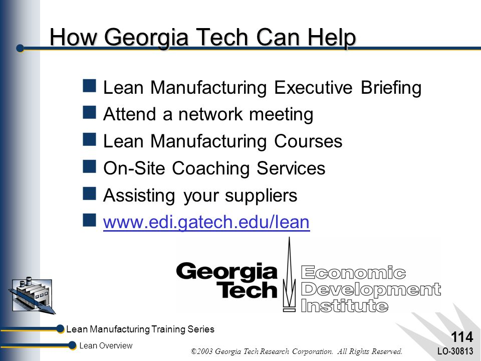 How Georgia Tech Can Help