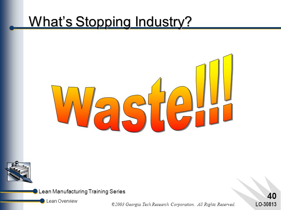 What's Stopping Industry