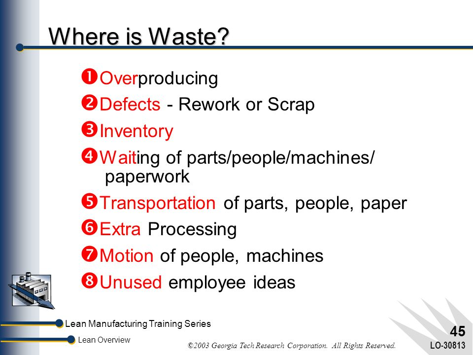 Where is Waste Overproducing Defects - Rework or Scrap Inventory