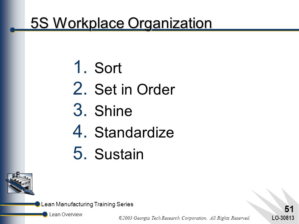 5S Workplace Organization