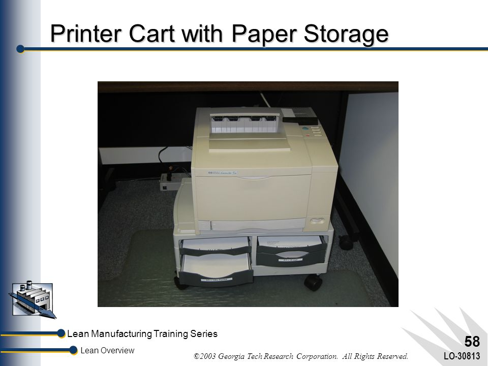 Printer Cart with Paper Storage