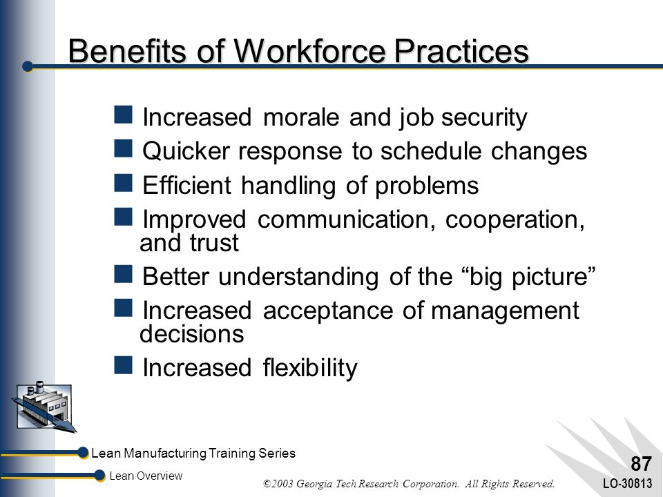 Benefits of Workforce Practices