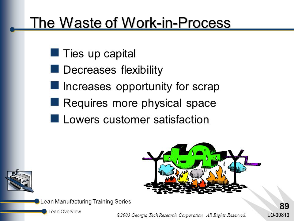 The Waste of Work-in-Process