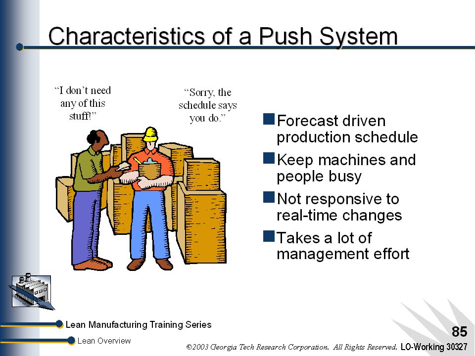 Characteristics of a Push System