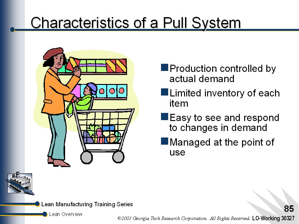 Characteristics of a Pull System