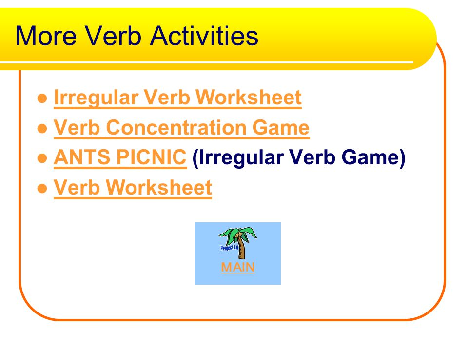 More Verb Activities Irregular Verb Worksheet Verb Concentration Game