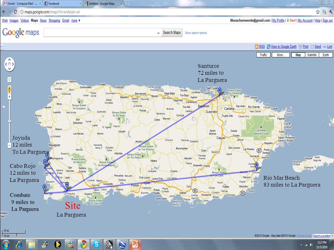 Site Santurce 72 miles to La Parguera Joyuda 12 miles To La Parguera