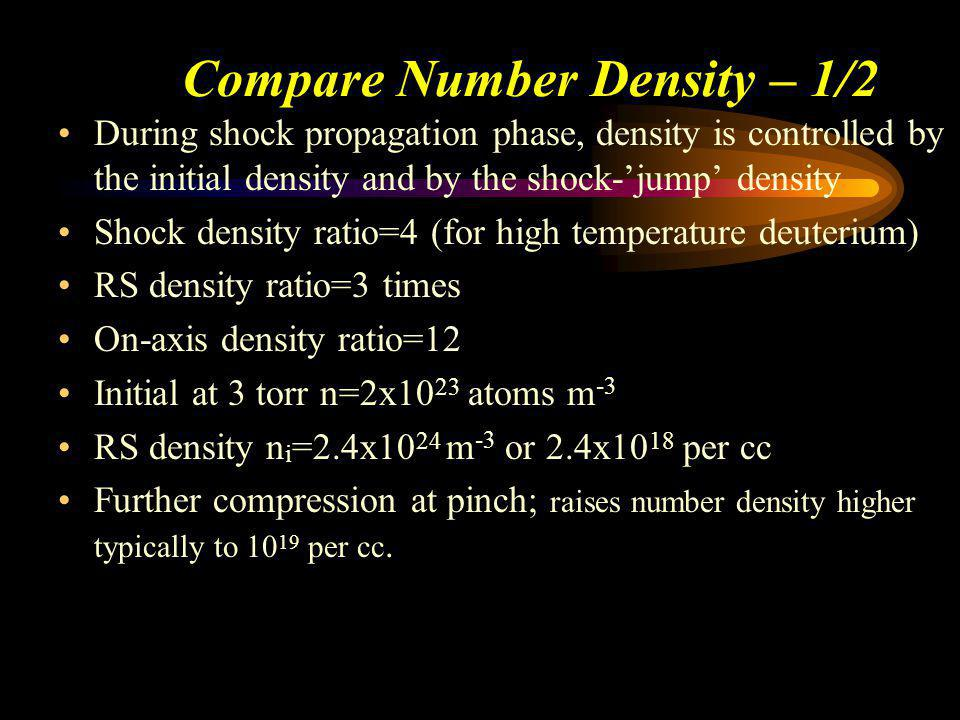 Compare Number Density – 1/2