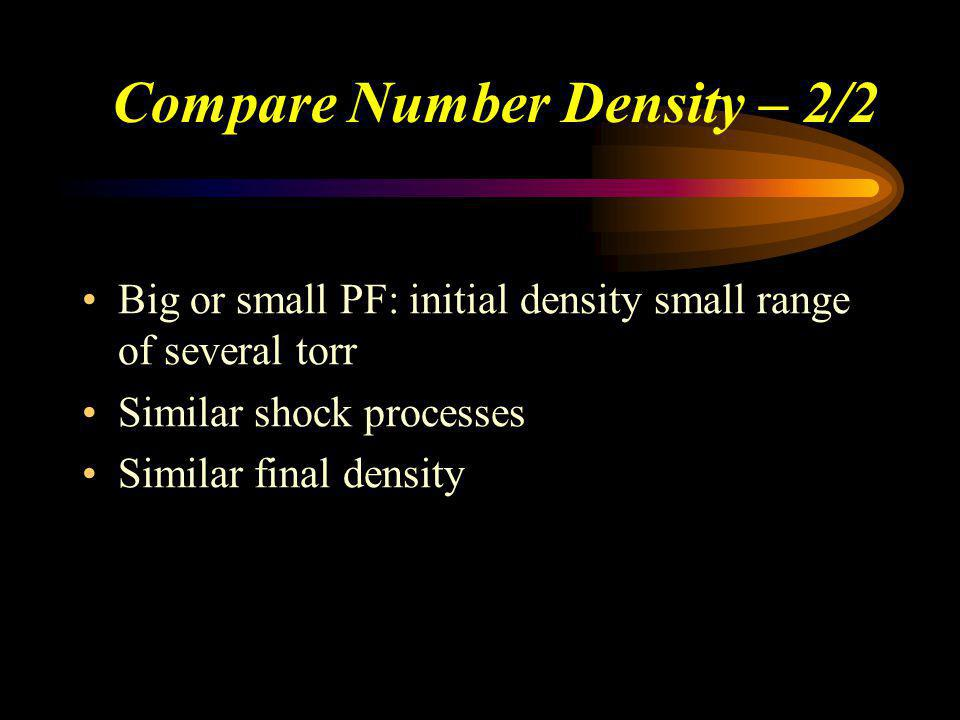 Compare Number Density – 2/2