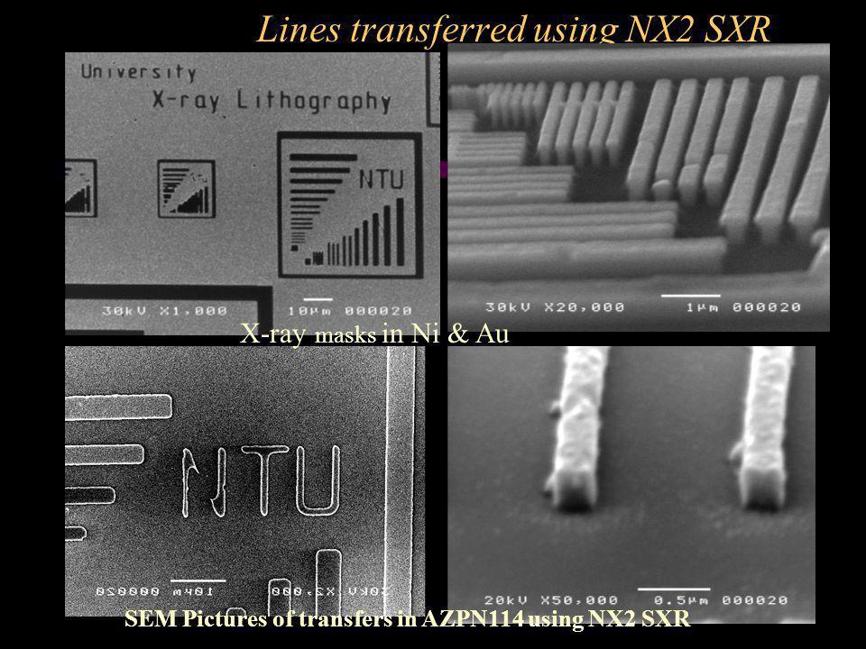 Lines transferred using NX2 SXR