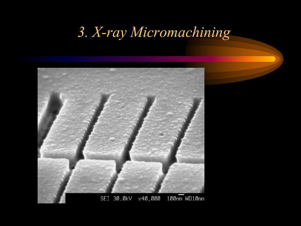 3. X-ray Micromachining