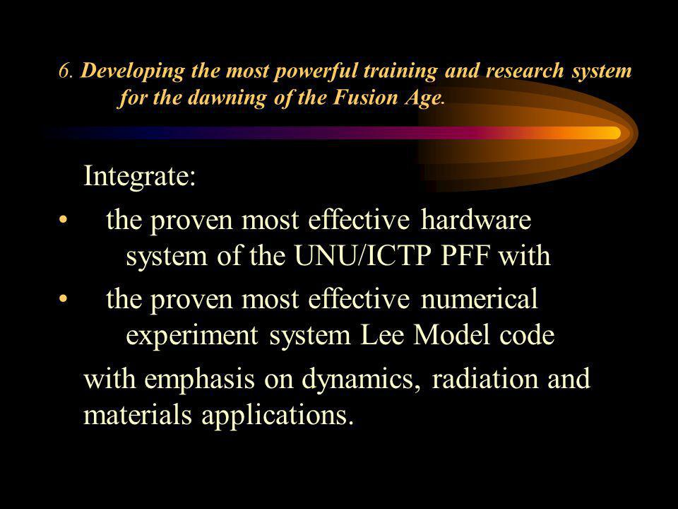 the proven most effective hardware system of the UNU/ICTP PFF with
