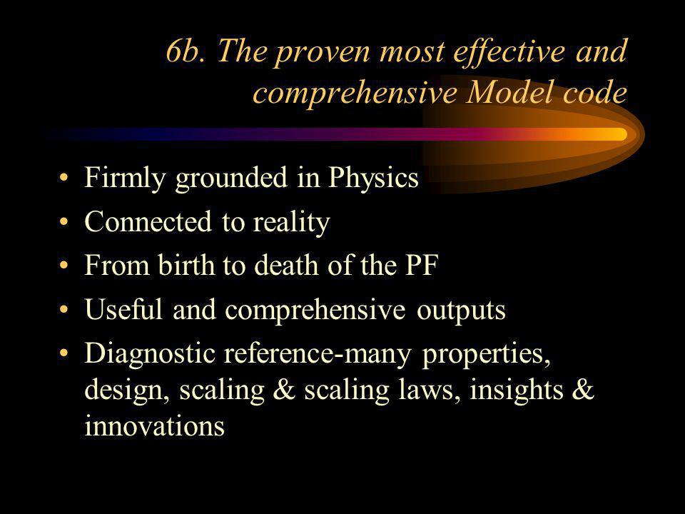 6b. The proven most effective and comprehensive Model code