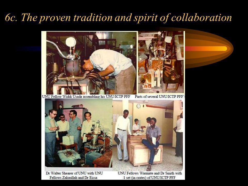 6c. The proven tradition and spirit of collaboration