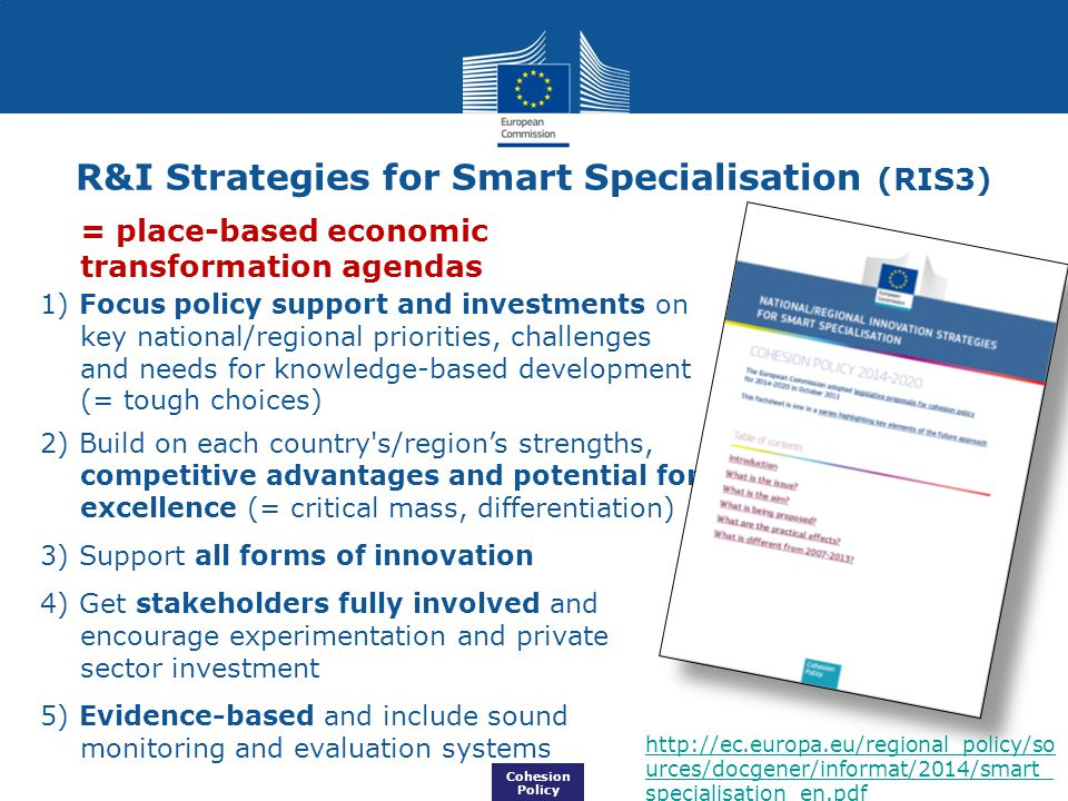 R&I Strategies for Smart Specialisation (RIS3)
