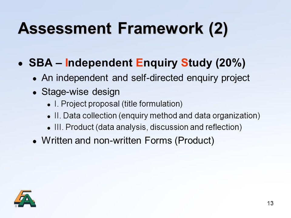 Assessment Framework (2)