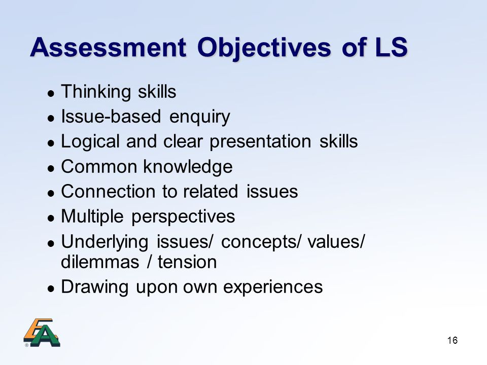 Assessment Objectives of LS