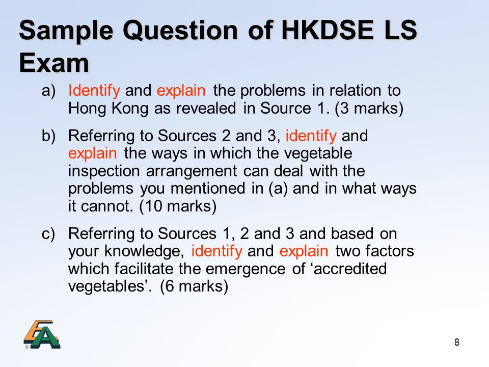Sample Question of HKDSE LS Exam