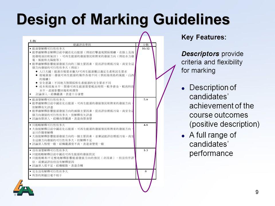 Design of Marking Guidelines
