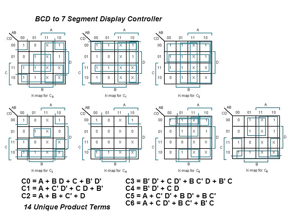 BCD to 7 Segment Display Controller
