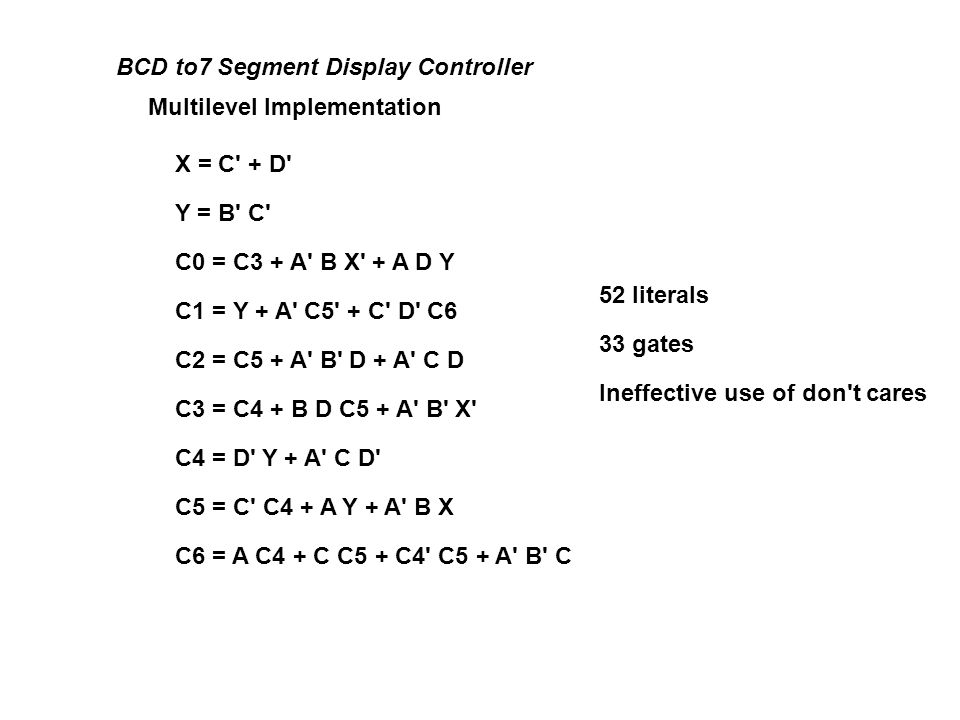 BCD to7 Segment Display Controller