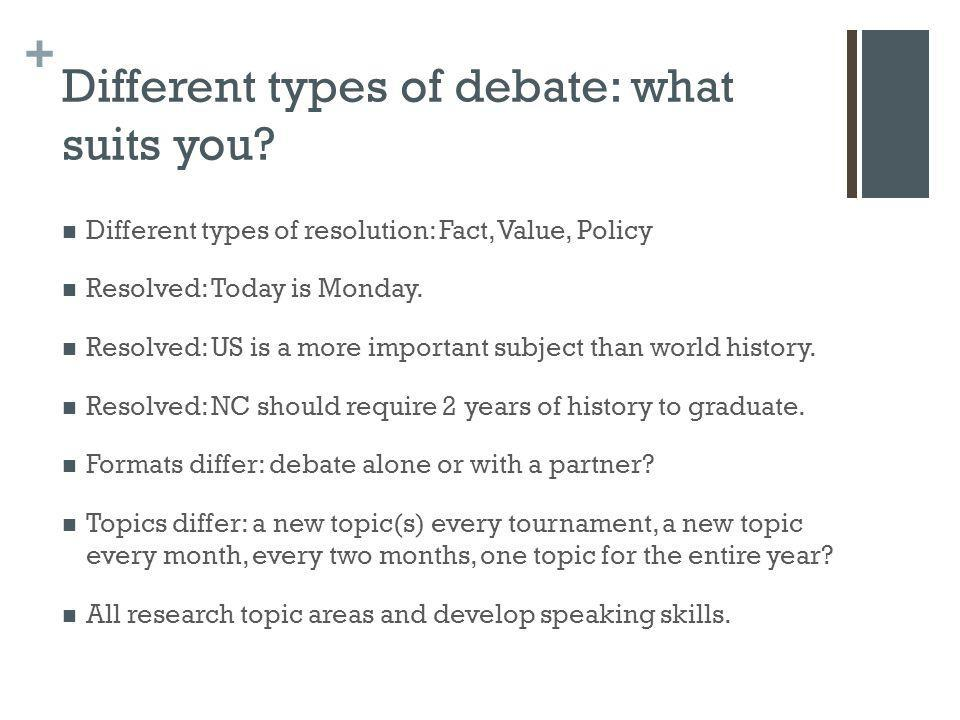 Different types of debate: what suits you