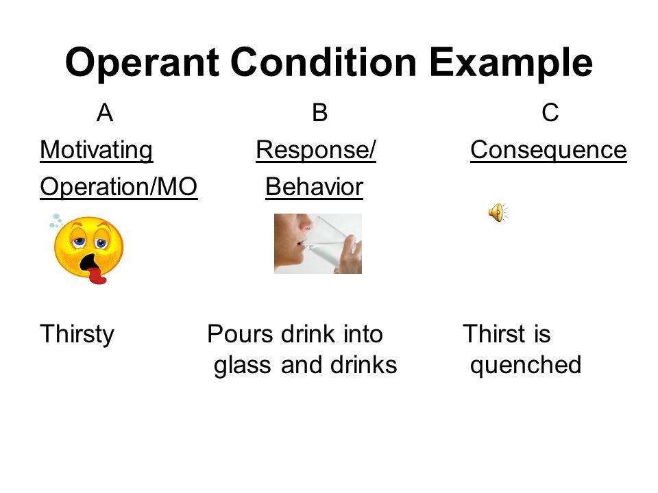 Operant Condition Example