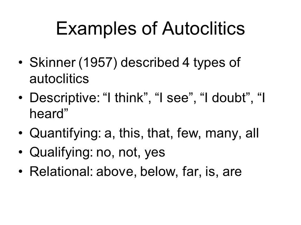 Examples of Autoclitics