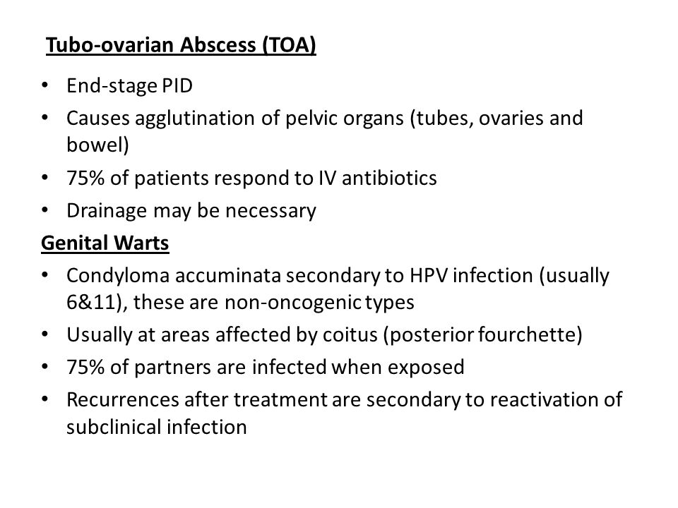 Tubo-ovarian Abscess (TOA)