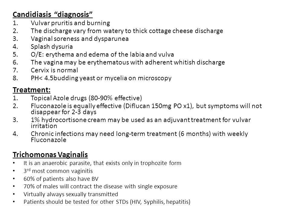 Candidiasis diagnosis
