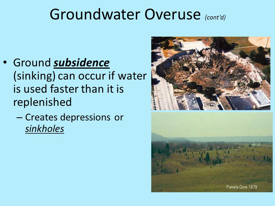 Groundwater Overuse (cont'd)