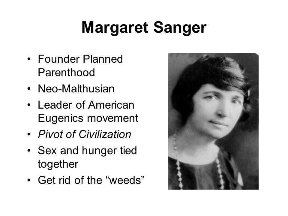 Margaret Sanger Founder Planned Parenthood Neo-Malthusian