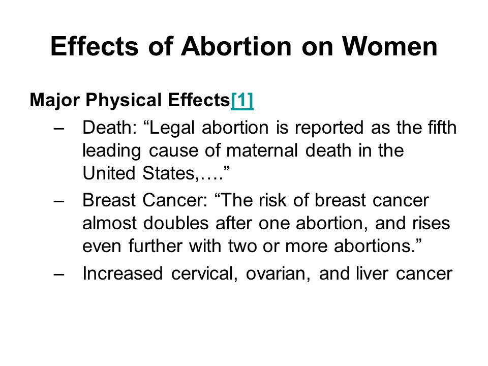 Detrimental Effects of Adolescent Abortion