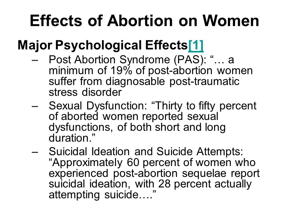 Effects of Abortion on Women