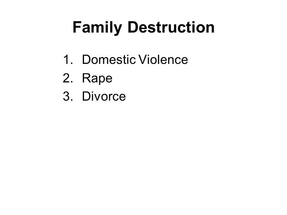 Family Destruction Domestic Violence Rape Divorce