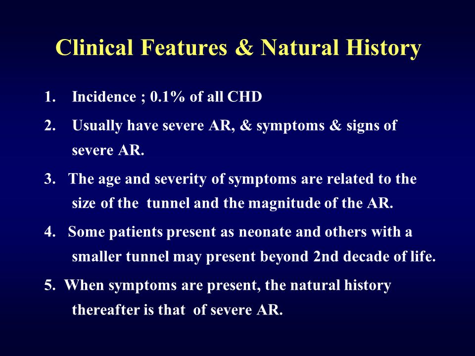 Clinical Features & Natural History
