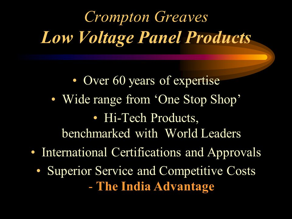 Crompton Greaves Low Voltage Panel Products
