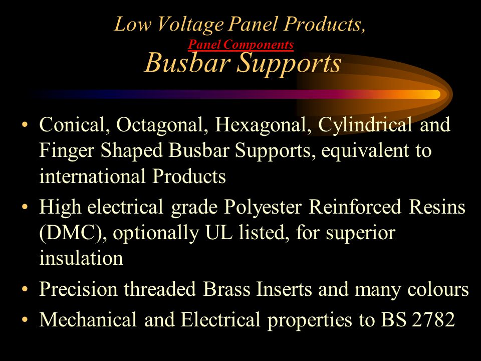 Low Voltage Panel Products, Panel Components Busbar Supports