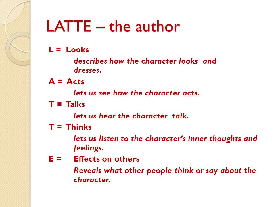 LATTE – the author