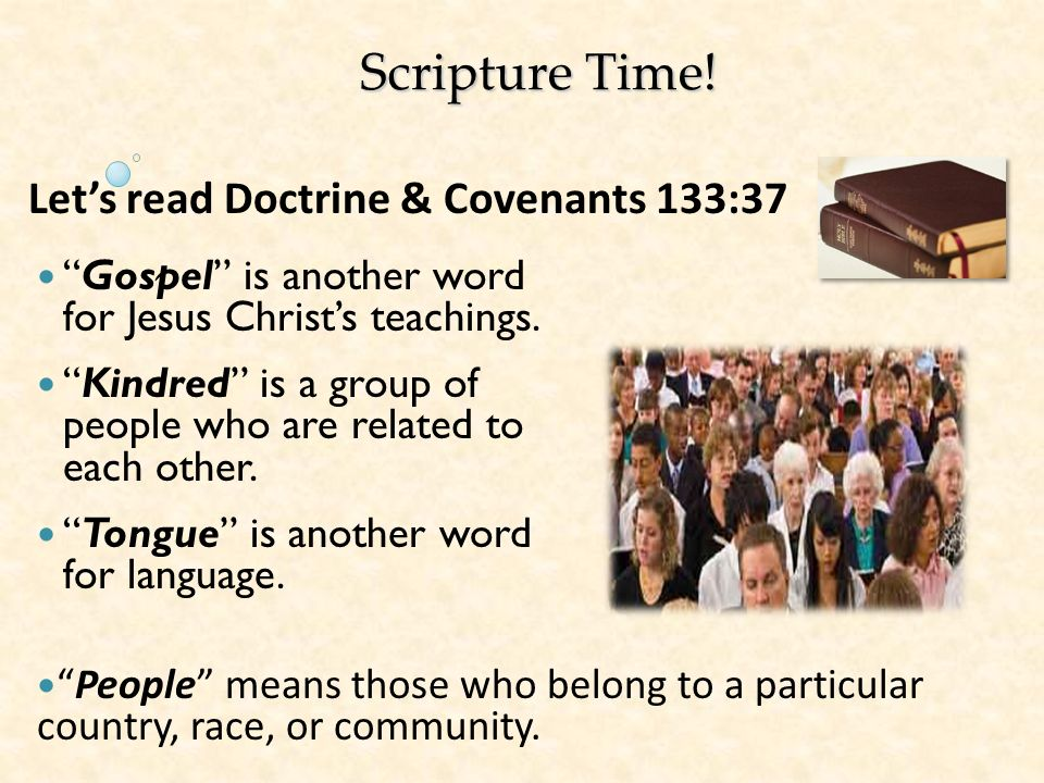 Scripture Time! Let's read Doctrine & Covenants 133:37