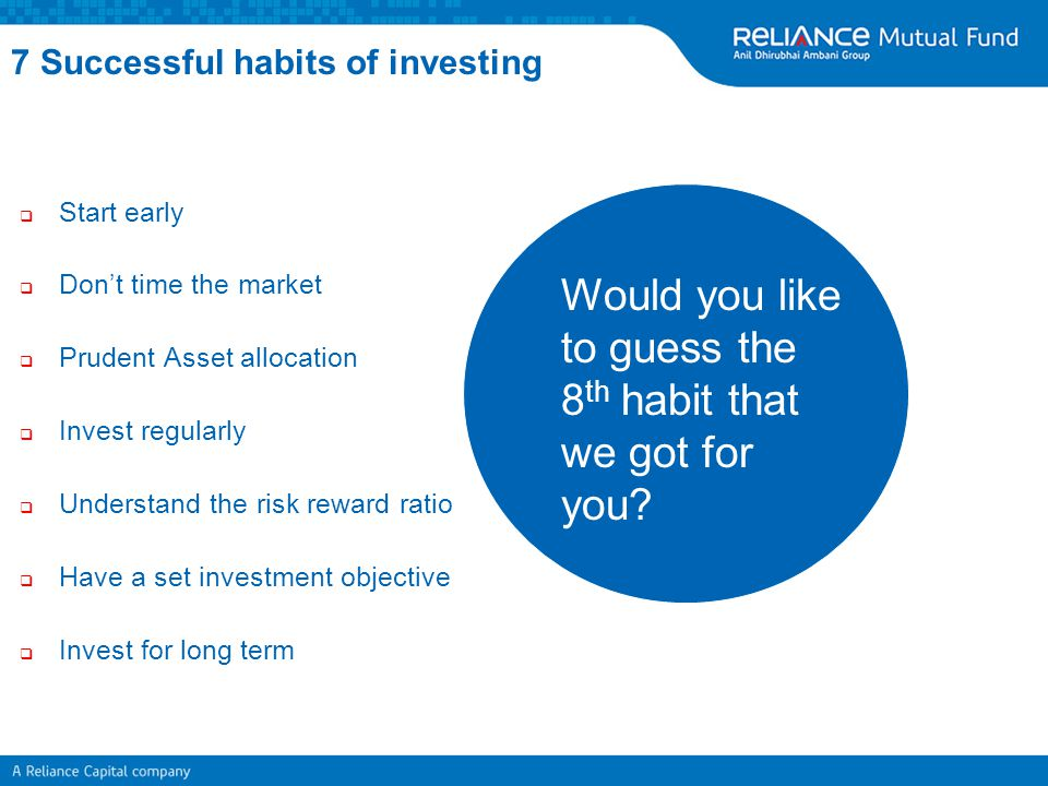 7 Successful habits of investing