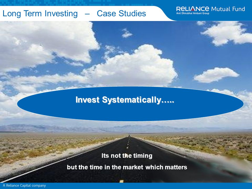 Invest Systematically…..