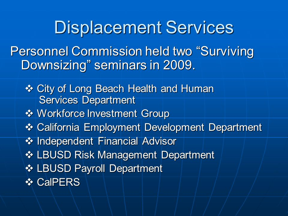 Displacement Services