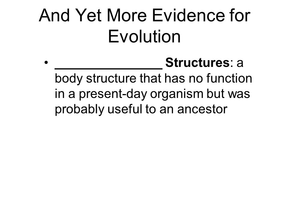 And Yet More Evidence for Evolution